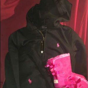 Black polo sweatsuit